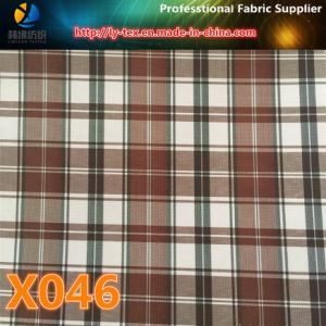 Polyester Check Fabric with 10 Choices in Prompt Goods for Garment Lining (X045-47) pictures & photos