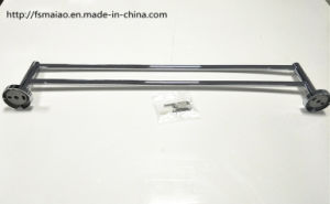 Chrome Round Brass Material Bathroom Double Towel Bar (2242) pictures & photos