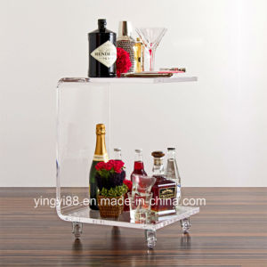 New Acrylic Plastic Table with Casters pictures & photos