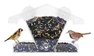 Acrylic Transparent Bird Feeder with Low Price for Two Birds pictures & photos