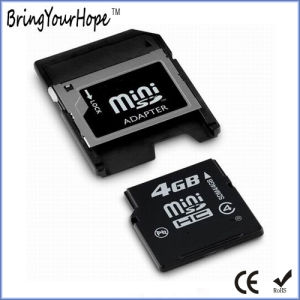 4GB Mini SD Memory Card with Card Adapter (4GB miniSD) pictures & photos