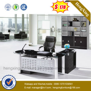 Hot Sell Fashion Office Furniture Glass Top Office Desk (NS-ND134) pictures & photos