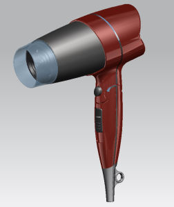 Spiral Cord Folda Hair Dryer with Shaver Socket pictures & photos
