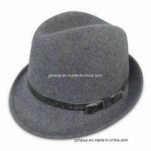 Custom Brand Felt Fedora Hat pictures & photos