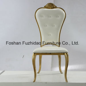 Best Price Stainless Steel White Leather Banquet Chair pictures & photos