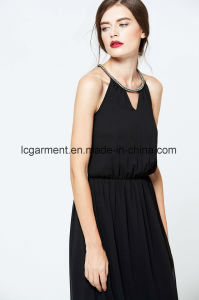 Simple Design New Lady Jumper Skirt Sexy Backless Summer Dress pictures & photos