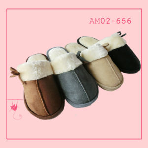New Models Ladies Soft Fashion Plush Indoor Slippers pictures & photos