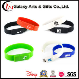 Colourful Custom Silkscreen Printed 16GB USB Silicone Wristband pictures & photos