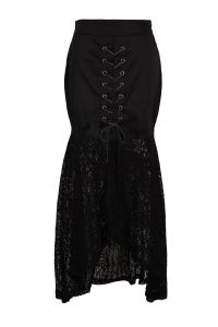 Wholesale Clothing Women′s Black Sexy Lace Hippie Boho Steampunk Skirts pictures & photos