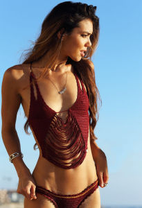 Boho Halter Crocheted Swimming Wear Swimsuit Costume Swimwear Bikini Dress pictures & photos