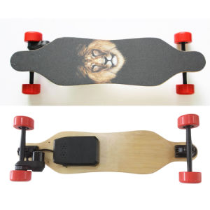 Belt Motor 4 Wheels Electric Mini Longboard Skateboard pictures & photos