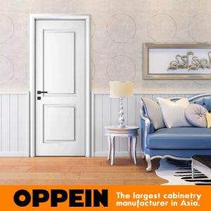 Oppein White Lacquer Singel Interior Door Wooden Flat Door (MSPD74) pictures & photos