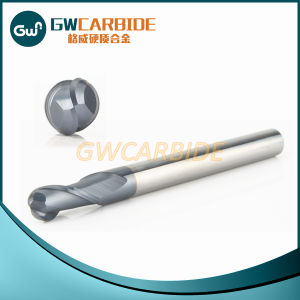 Carbide Ball Nose End Mill Cutter with 2 Flutes pictures & photos
