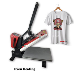High Quality Manual Heat Press Transfer Printing Machine 38*38 for Wholesale pictures & photos
