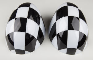 Brand New ABS Plastic UV Protected Sporty Big Chequered Style Color with High Quality Mirror Covers for Mini Cooper R56-R61