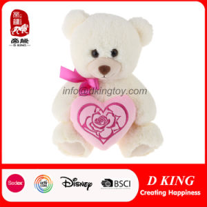 Valentine Gift Pink Heart White Stuffed Soft Plush Toy Teddy Bear pictures & photos