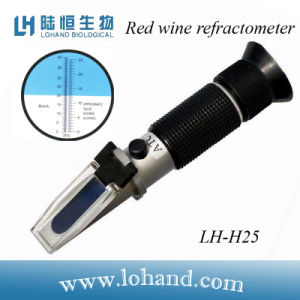 Wholesale Metal Material Hand Held Atc Alcohol and Sugar Refractometer (LH-H25) pictures & photos