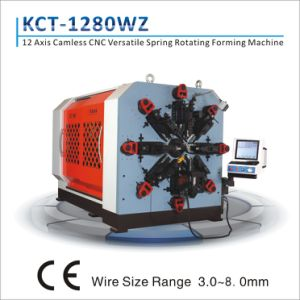 Kct-1280wz 3.0mm-8.0mm 12 Axis Versatile CNC Compression/ Extension/ Torsion Spring Rotating Forming Machine pictures & photos
