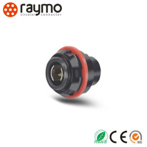 Raymo 103 Series Rear-Mounted Receptacle Waterproof IP68 Circular Cable Connector pictures & photos