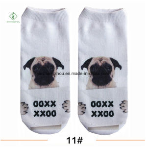 Europe New Factory 3D Cartoon Printed Custom Boat Socks pictures & photos