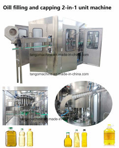 Automatic Edile Olive Oil Pet Bottle 200ml 1000ml 2000ml   Filling Capping 2-in-1 Unit Peanut Oil Sunflower Oil Soybean Bottling Machine Plant pictures & photos