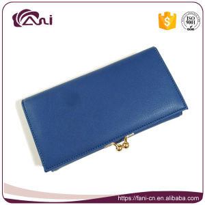 Fani Latest Blue Women Purse Wallet, Ladies Wallet, Leather Woman Purse pictures & photos