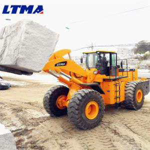 New Stone Handle 28 Ton Wheel Forklift Loader pictures & photos