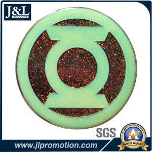 Die Casting Zinc Alloy Luminous Enamel Metal Coin, Glitter Enamel pictures & photos