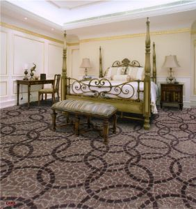 N375-Rolled 1/8 Nylon-PA6 Cut &. Loop Woven Full-Width Repeat Office/Hotel/House Carpet pictures & photos