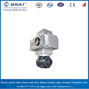 Thread Connection UPVC Electricity Motorized Ball Valve for Anti-Corrosion Engineering pictures & photos