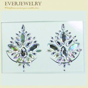 Fashion Rhinestone Skin Safe Jewelry Tottoo Eyes Crystal Sticker pictures & photos