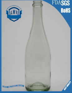 750ml Transparent Champagne Glass Bottle pictures & photos