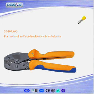 European Style Ratchet Crimping Plier for Insulated and Non-Insulated Cable End-Sleeves pictures & photos