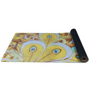 Natual Tree Rubber Yoga Mat with Custom Prinring Suede Antislip Mat
