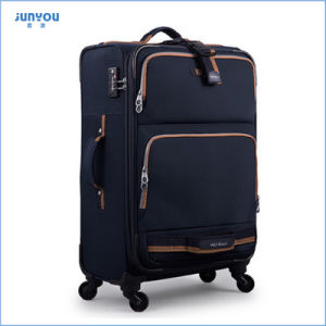 Factory Wholesale Nylon Suitcase Soft Trolley Luggage pictures & photos