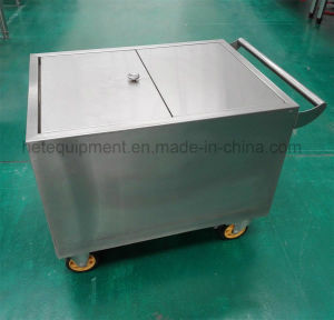 Heavy Duty Stainless Steel Flour Trolley Car with Four Wheels pictures & photos