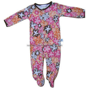 Lovely Cotton Printing Baby Coverall with Long Sleeve pictures & photos