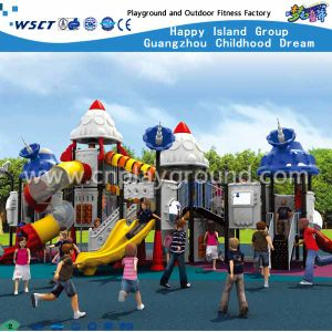 Outdoor Playground Slide with Outer Space Cartoon Parts (HA-07301) pictures & photos