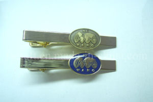Metal Tie Clip with Custom Badges