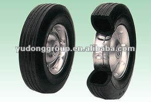 10 Inch Small Solid Cart Wheel, Trolley Wheel 10′′x2.75′′ pictures & photos