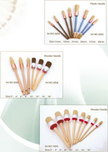 Round Paint Brush (PAINTBRUSH PURE BRISTLE, ROUND BRUSH) pictures & photos