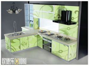 Wood Customized Kitchen Cabinet (ODR-K002)