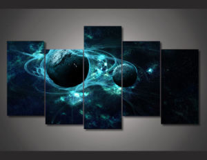 HD Printed Aurora Outer Space Painting on Canvas Room Decoration Print Poster Picture Canvas Mc-153 pictures & photos
