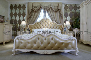 Bedroom Furniture with Leather Upholstered