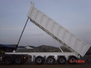 45cbm Heavy Duty 4 Axles Tipper Semi Trailer pictures & photos