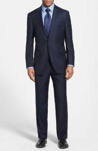 2016 Latest Design Slim Fit Men Suits, Navy Mtm Business Suit pictures & photos