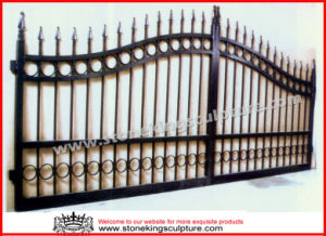 Wrought Iron Gate/ Forged Iron Gate (SK-5638) pictures & photos