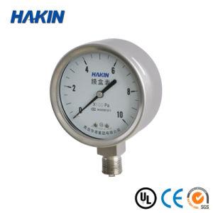 304 Slicone Oil Filled Stainless Steel Capsule Pressure Gauge