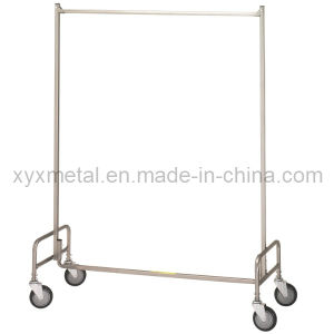 Metal Garment Clothing Clothes Rails Stand with Wheels pictures & photos