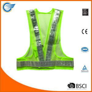 Triangular LED Safety Reflective Vest with LED Lights pictures & photos